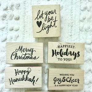 Rubber Stamps Christmas Card Making Craft Bundle